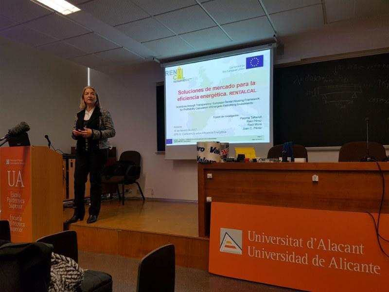 Charla sobre rehabilitación energética realizada por Rentalcal en la Universidad de Alicante