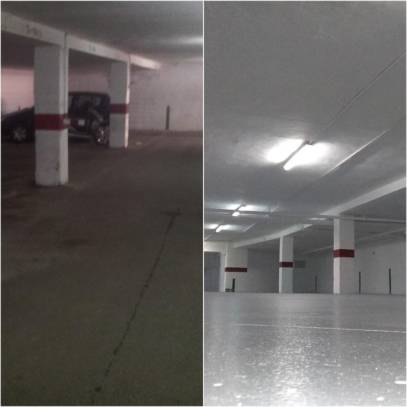 Otra de las obras de rehabilitación en Alicante llevaba a cabo por BDI fue la del garaje de Azorín