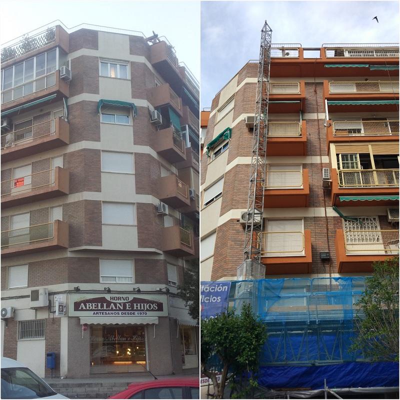 Las obras de rehabilitación en Alicante de Grupo BDI también pasaron por el edificio Bari de la capital alicantina
