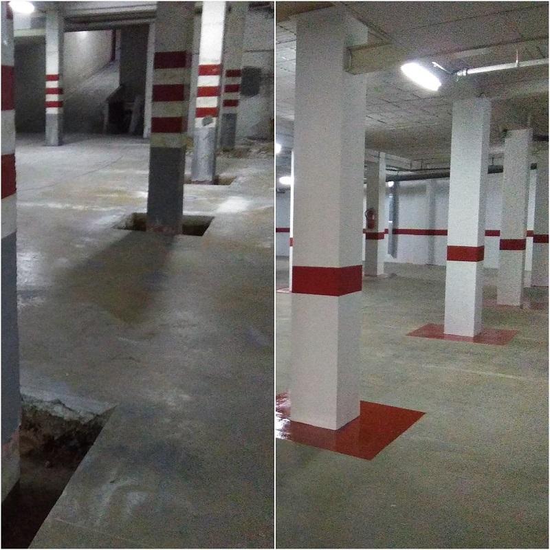 Las obras de rehabilitación en Alicante de Grupo BDI también han tenido trabajo en sótanos y subsuelos