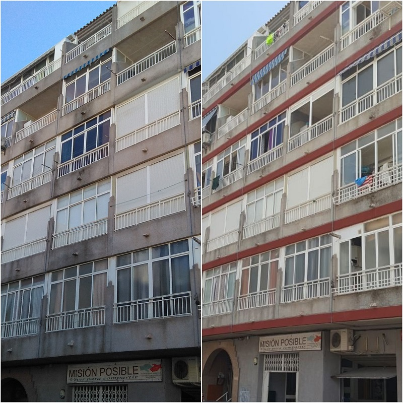 La rehabilitación de edificios en Alicante de Grupo BDI también alcanzó a Torrevieja