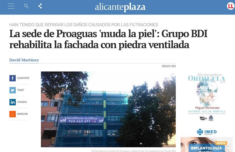 La prensa se ha hecho eco de la rehabilitación de Proaguas por parte de Grupo BDI
