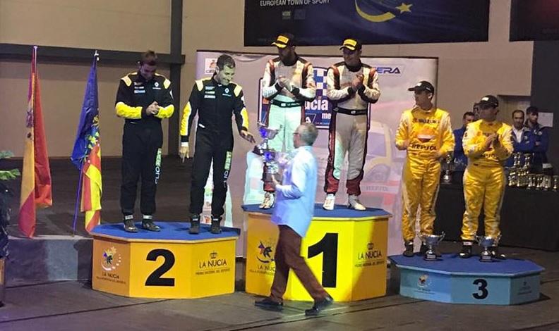 Miguel Fuster, piloto alicantino patrocinado por Grupo BDI, ha logrado un segundo puesto en el Rallye de La Nucía
