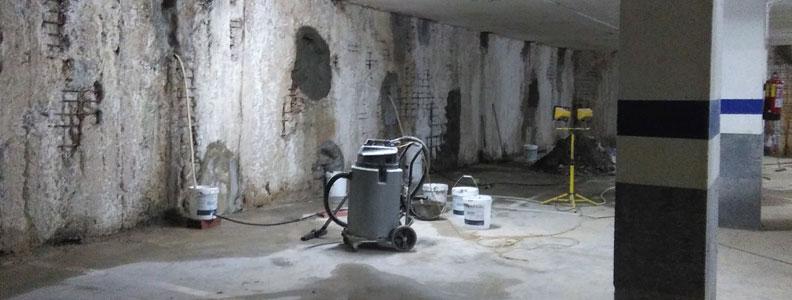 Filtraciones de agua en sótanos